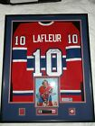 MONTREAL CANADIENS GUY LAFLEUR SIGNED VINTAGE JERSEY WITH SIGNED 8X10 FRAMED