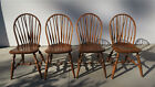 Dining Room Windsor Brace Back Chairs -Wood- Antique Furniture