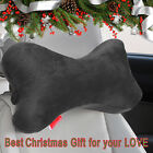 Dog Bone Neck Pillow Head Rest Memory Foam Travel Car Seat Posture Support Black
