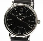 Men's IWC Portofino Automatic Watch Black Dial Steel 40mm IW356502 Current $3500