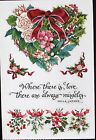 RARE PSX HEARTS OF CHRISTMAS HOLIDAY LOVE VINTAGE SCRAPBOOK STICKER