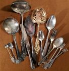 Lot of 15 Pcs. Assorted Antique and Vintage Silver Plated Flatware