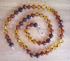 EXCLUSIVE ADULT BALTIC AMBER 8 85mm NECKLACE RAINBOW Jewellery Beads FREE POST