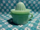 Jadeite Green Glass 2 Piece Juicer with Reamer in Excellent Condition