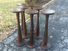 7 Antique Masonic Wood Degree Standing Tables - Aprox 100 Years Old - Very Good