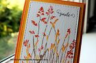 Penny Black cling mounted rubber stamp NATURES PAINTBRUSHES grasses