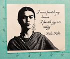 FRIDA KAHLO  Artist  Cling Mounted Stamp  I painted my own reality  NEW