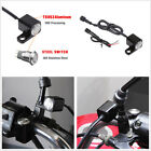 Motorcycle Adjustable Horn Engine Start Kill Self-return Reset Switch Button CNC