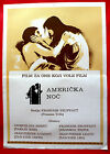 DAY FOR NIGHT 1973 FRANCOIS TRUFFAUT JACQUELINE BISSET RARE EXYU MOVIE POSTER