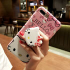 Cute Hello Kitty Doll Stand Holder Case Cover for iPhone XS Max XR 6S 7 8 Plus