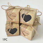 Packaging Wedding Candy Box Love Heart DIY Candy Gift Trimmed With Ribbon Case