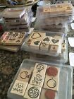 STAMPIN UP STAMP SETS USED RETIRED RUBBER WOOD MOUNTED YOU CHOOSE FREE SHIP A