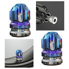 2x Blue+Silver CNC ATV Scooter Tire Valve Cap Stem Cover Bike Wheel Accessories
