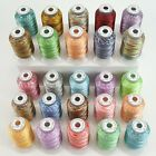 Variegated Polyester Embroidery Machine Thread Kit 500M Each Spool 25 Colors