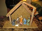 Nice Vintage Hand Painted Nativity Set Italy Great Art Deco Antique Look