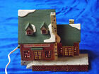 Vintage Porcelain Lemax Christmas Village Sunrise Coffee House 85307 RARE