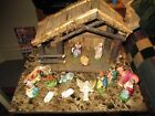 NICE Vintage Art Deco Nativity Set Hand Painted Italy Classic Holiday Look
