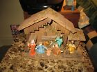 CLASSIC Vintage 9 Pcs Italian Nativity Set Great Look Nice Condition