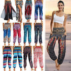 Women Harem Pants Baggy Hippie Boho Yoga Afghani Genie Indian Aladdin Trousers O