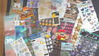 MIXED LOT 6 Scrapbook Sticker Vacation Baby Easter Cat Snow Letter Travel Frame