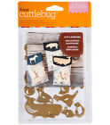 Cricut Cuttlebug ANIMAL CRACKERS Cut and Emboss Dies small Brand New in Pkg