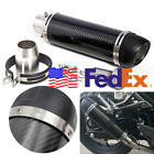 USA Universal Slip-On Motorcycle Carbon Fiber Exhaust Muffler Pipe DB Killer 1x