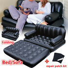 Inflatable Blow Up Double Sofa Pull Out Bed Airbed Couch Chair Portable Mattress