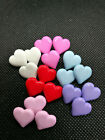 Heart Shaped Shank Back Buttons In 6 Colours Size 15mm Childrenbaby Novelty