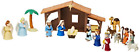 Nativity Playset for Children 19 Pieces by BibleToys Includes Mary Joseph for