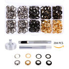 200 Set Metal Eyelets Grommets with Wahser 10mm for Leather Scrapbooking Shoes