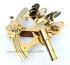 Solid Brass Sextant Maritime Collectible Vintage Marine Sextant