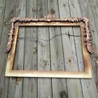Very Lg. Antique or vintage carved wood picture frame 36