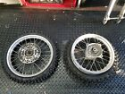 Kawasaki KX 65 Front & Rear wheel, ice tires, Bridgestone Motocross, Kold Kutter