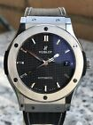 Hublot Classic Fusion 45MM Automatic Watch Rare Carbon Dial and Strap
