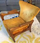 1960s Pearsall Mid Century Modern Wingback Chair 2291-C American Walnut USA