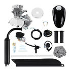 Silver 50cc 2 Stroke Cycle Motor Petrol Gas Engine Kit Motorized Bicycle Bike