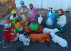 Empire GFP 13 piece large Christmas Nativity outdoor lighted blow mold set