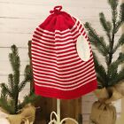 Kissy Kissy Red and White Striped Knit Beanie / Hat 12-18M - NWT