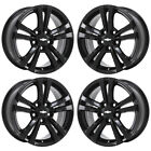 17 CHEVROLET EQUINOX BLACK WHEELS RIMS FACTORY OEM SET 4 5433