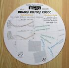 Rega RB600/RB700/RB900 Custom Designed Tonearm Cartridge Alignment Protractor