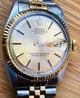 RARE MENS ROLEX DATEJUST 1601 SIGMA DIAL w/ BLACK OUT MARKERS! PERFECT PATINA!
