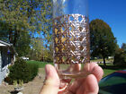 Great Set 7 Libbey Culver Style Tom Collins Glasses with Gold Rattan/Wicker Pat.