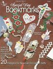 Special Day Bookmarks Crochet Patterns Crosses Heart Flowers Annies Attic NEW