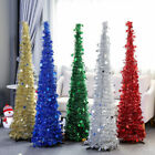 5Ft Christmas Pencil Tinsel Tree Xmas Collapsible Sequin Bling Home Party Decor