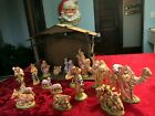 LARGE Musical Vintage Atlantic Holland Mold Ceramic NATIVITY 19 Pc SET Creche