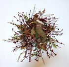 HANDMADE PRIMITIVE STAR-CROW AND BURGUNDY PIP BERRY WREATH-by lavender-n-aqua