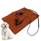 Dog Cat Winter Safe Heated Warmer Bed Pad for Pet Reptile Mat Brown 40 45