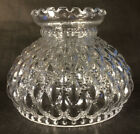 7 fitter Diamond Quilted Clear Glass Oil Student Lamp Shade Crimp Top PS661