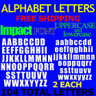 IMPACT ALPHABET upper and lowercase 1 2 3 4 1 15 2 25 3 FREE SHP DECAL