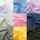 Solid Poplin Cotton Polyester Fabric Broadcloth Polycotton Sewing Quilting Shirt